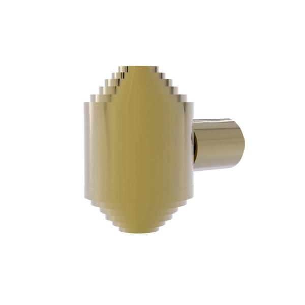 1-1/4 Inch Cabinet Knob in Unlacquered Brass