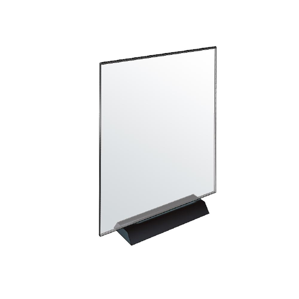 Azar Displays 8 5 In X 11 In Acrylic Sign Holder On Weighted Black Base Pack Of 2 108802 The Home Depot