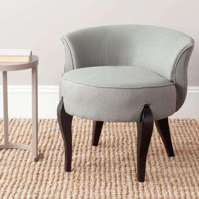 Mora Sea Mist and Black Linen Vanity Chair
