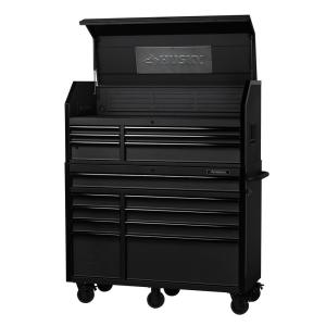 Milwaukee 46 In 16 Drawer Steel Tool Chest And Rolling Cabinet Set Textured Red And Black Matte 48 22 8510 8520 The Home Depot
