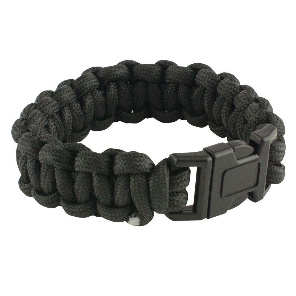 9 in. Black Paracord Bracelet