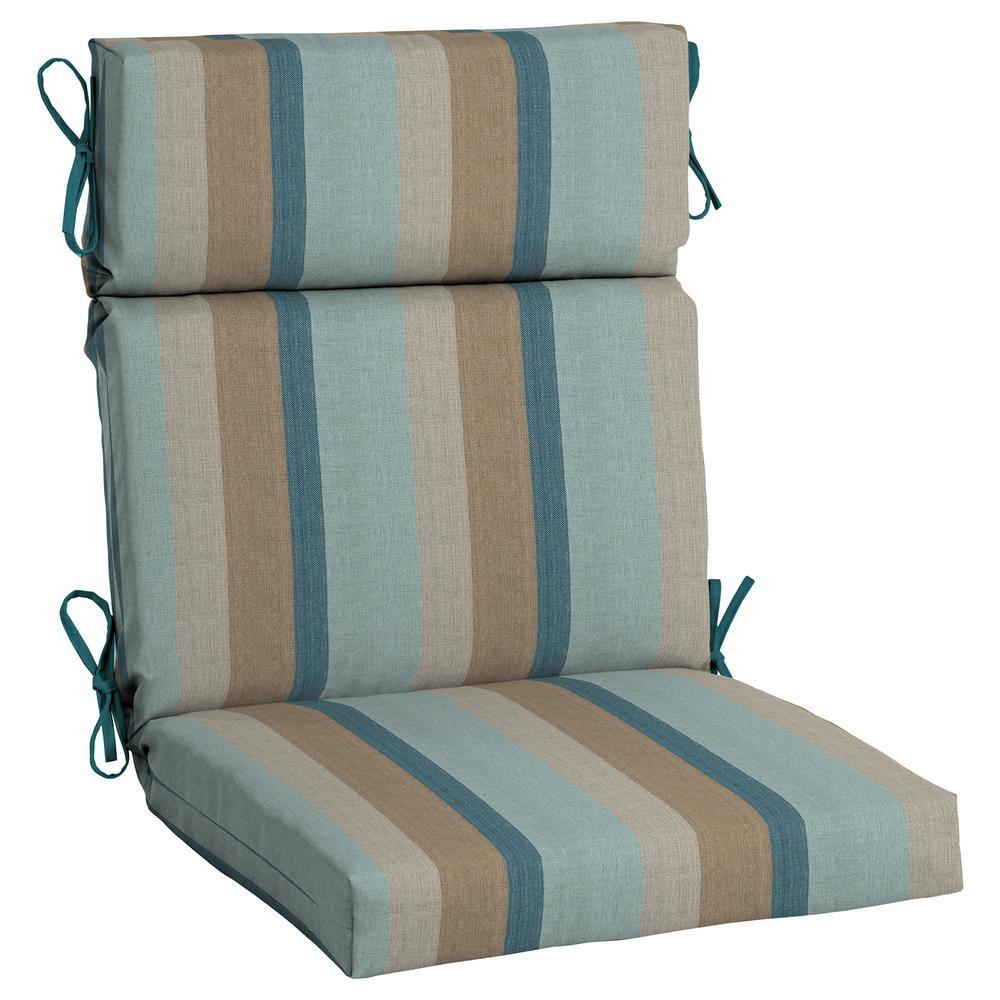 21.5 X 20 Outdoor Dining Chair Cushion In Sunbrella Gateway Mist