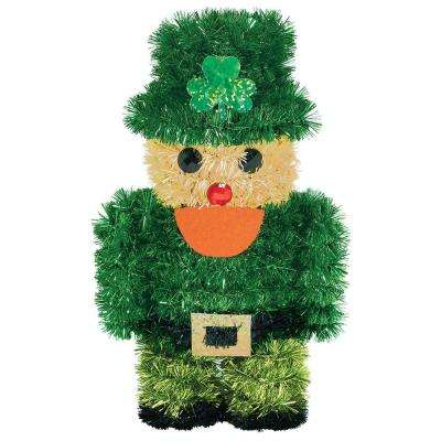 6.5 in. x 3.5 in. St. Patrick's Day Tinsel Leprechaun Hanging 3D Decoration (5-Pack)