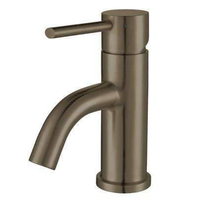 Single Hole Single Handle Lead Free Bathroom Faucet In Brushed Stainless  Steel
