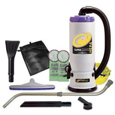Super QuarterVac HEPA 6 qt. Backpack Vac with Small Business Tool Kit