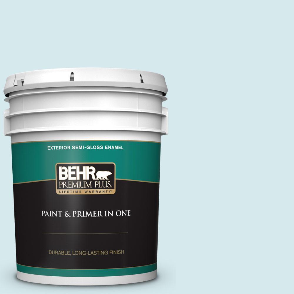 Behr Premium Plus 5 Gal Home Decorators Collection Hdc Md 23 Ice Mist Semi Gloss Enamel Exterior Paint Primer 505005 The Home Depot