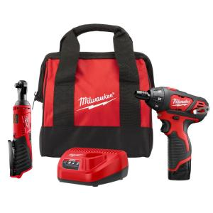 Deals on Milwaukee M12 12-V Lithium-Ion Cordless 3/8 in. Combo Kit 2-Tool