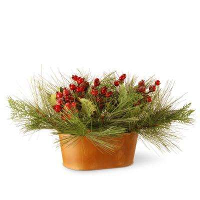 10 in. Potted Bristle and Berries