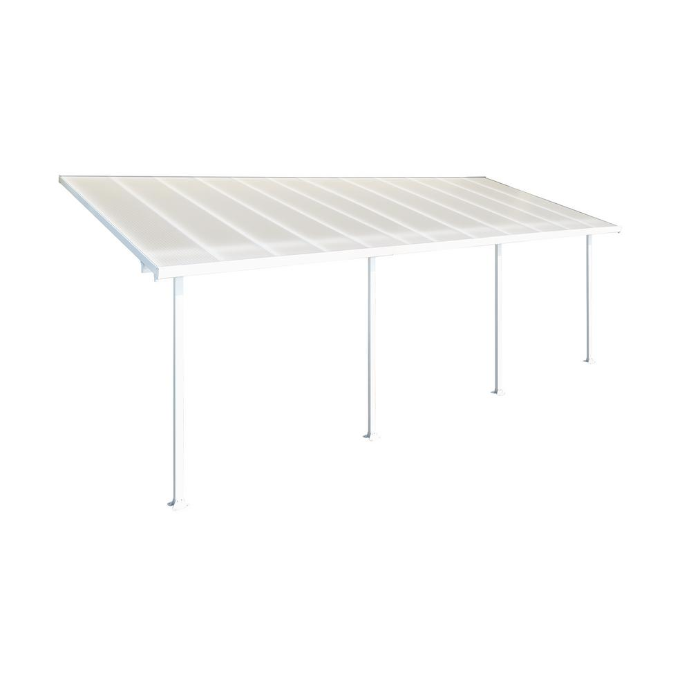 Palram Feria 10 Ft. X 24 Ft. White Patio Cover Awning