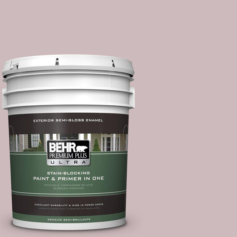 BEHR Premium Plus Ultra 5-gal. #N120-3 Mauve it Semi-Gloss Enamel Exterior Paint