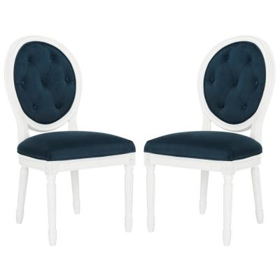 Holloway Navy Tufted Oval Side Chair (Set of 2)