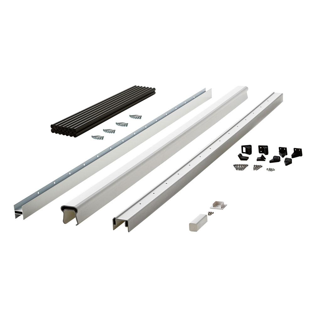 Symmetry 6 ft. Tranquil White Capped Composite Line Rail Section with
