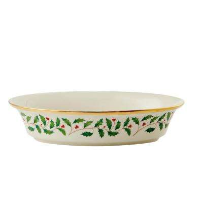 Holiday 6.5 in. Ivory Vegetable Bowl (34 oz.)
