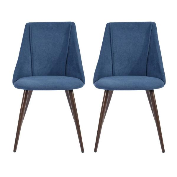 Upholstered Blue Side Dining Chair Modern Dining Chair