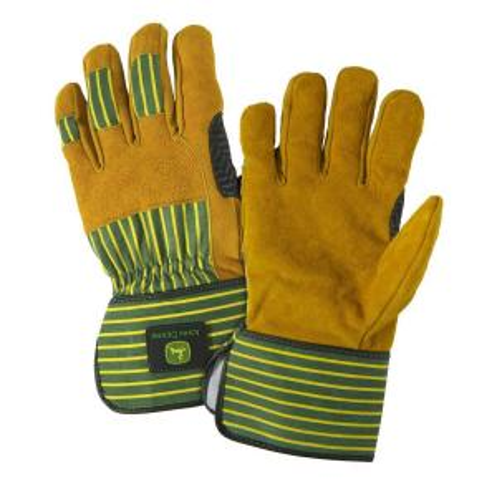John Deere Split Cowhide X-Large Leather Palm Gloves by John Deere