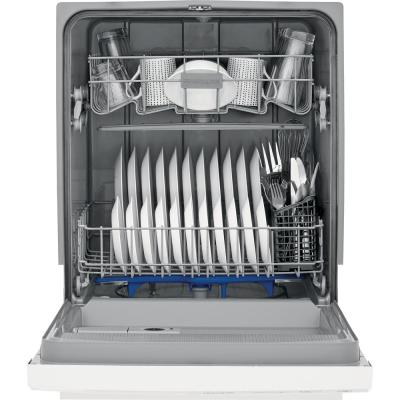 24 in. White Front Control Built-In Tall Tub Dishwasher, 60 dBA