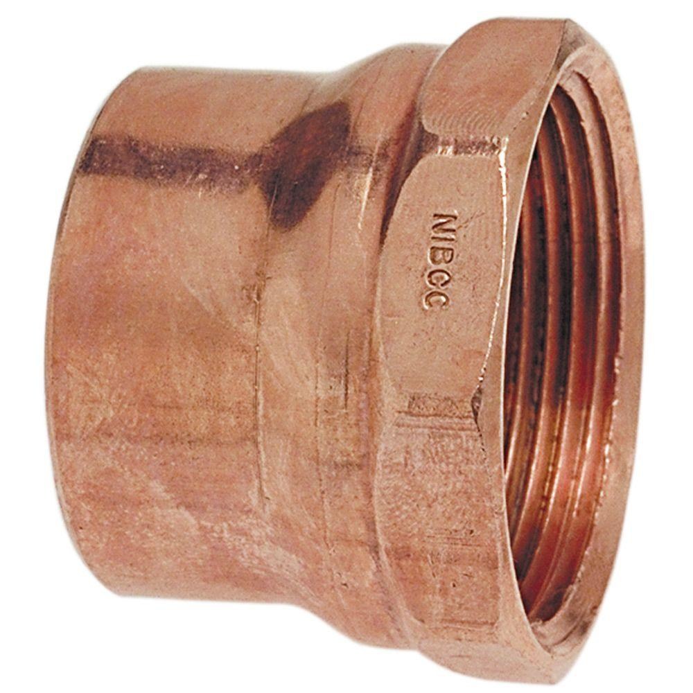Pack of 10 1-1//2 Copper x Female Threaded Adapter