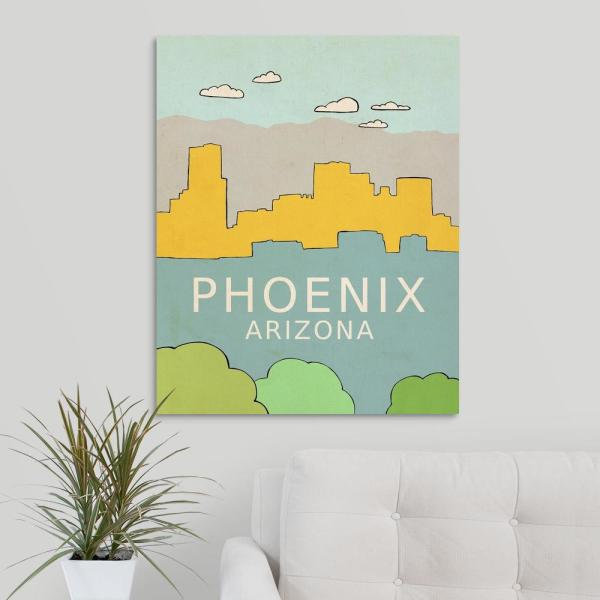 GreatBigCanvas 24 in. x 30 in. ''Phoenix'' by Lisa Barbero Canvas