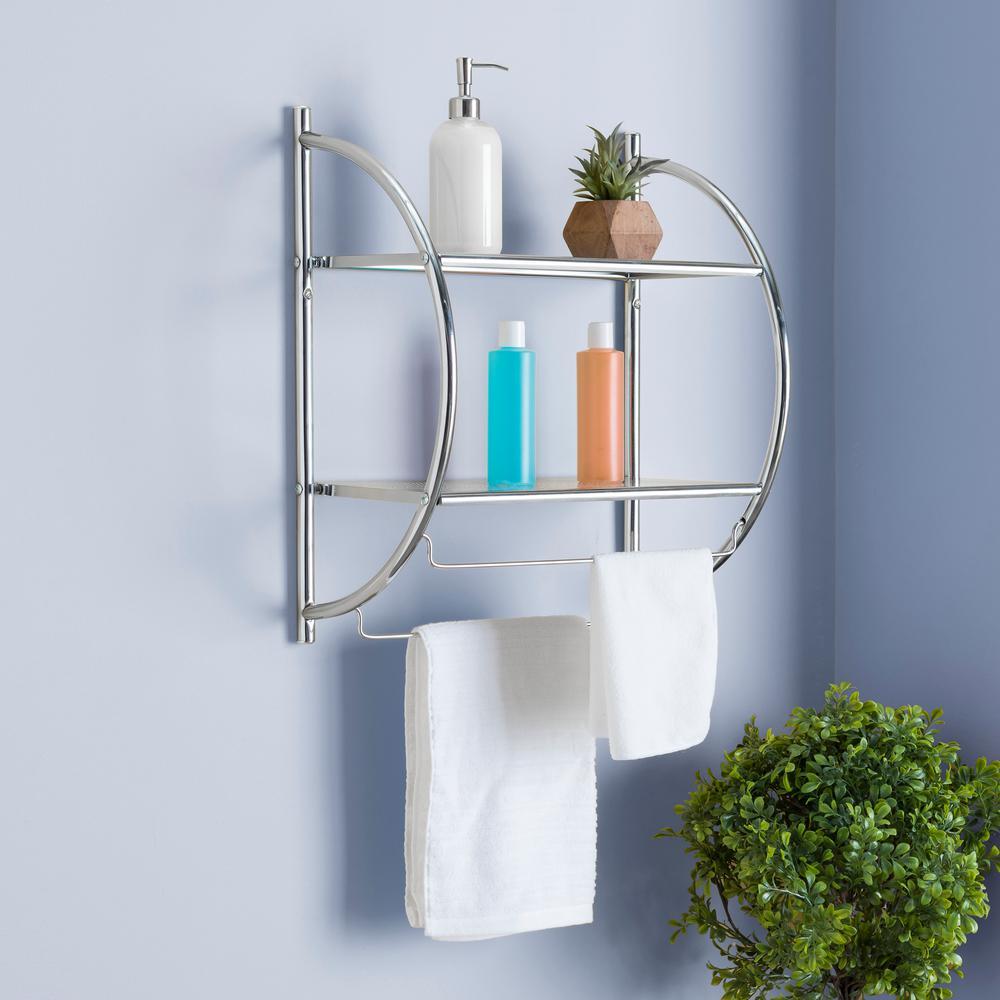 W Hanging Steel 2 Tier Shelf