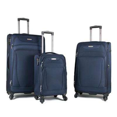 Phalanx 3-Piece Navy Expandable Spinner Luggage Set