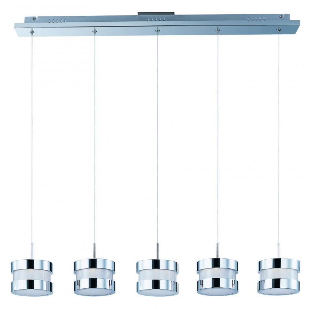 CLI Coit 5-Light Polished Chrome LED Pendant