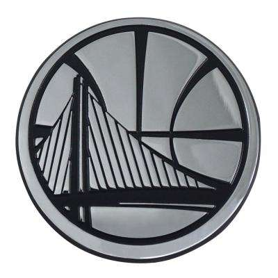 NBA-Golden State Warriors 2.7 in. x 3.2 in. Chrome Emblem