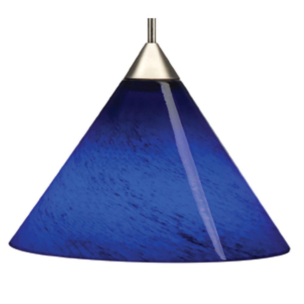 Juno 1-Light Night Blue LED Pendant Kit Short Cone