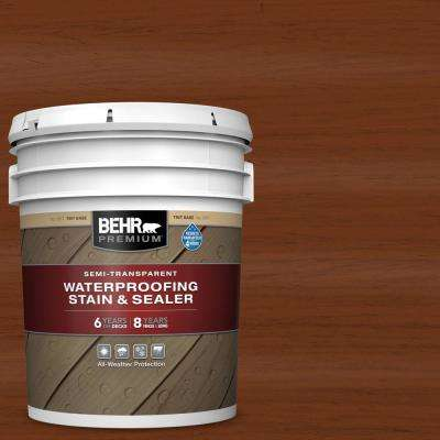 5 gal. #ST-130 California Rustic Semi-Transparent Waterproofing Exterior Wood Stain and Sealer