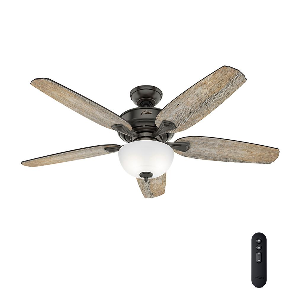 Led Indoor Easy Install Noble Bronze Ceiling Fan With Hunterexpress Feature