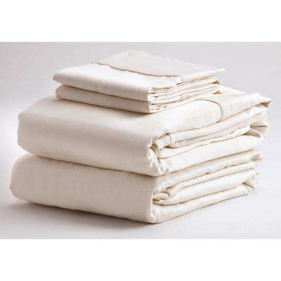 Denver Mattress Microfiber Sheet Set in Narrow King, Ivory