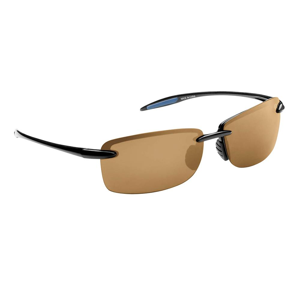 2d91b5f7393d Flying Fisherman Cali Polarized Sunglasses Black Frame with Amber Lens