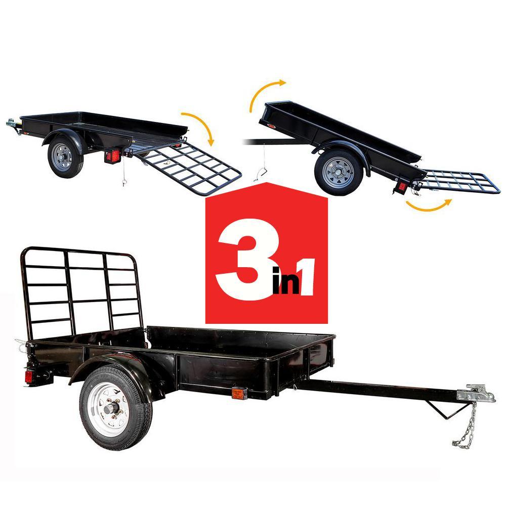 Triple Crown 1940 lb. Capacity 6 ft. x 12 ft. Utility Trailer ...