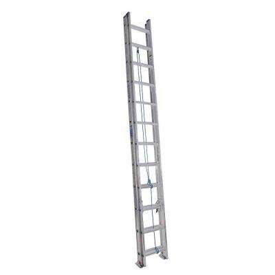 24 ft. Aluminum Extension Ladder with 250 lbs. Load Capacity Type l Duty Rating