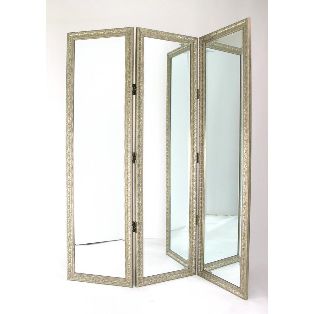 Wayborn Full Size Tri Folding Dressing Mirror Ms007 The Home Depot