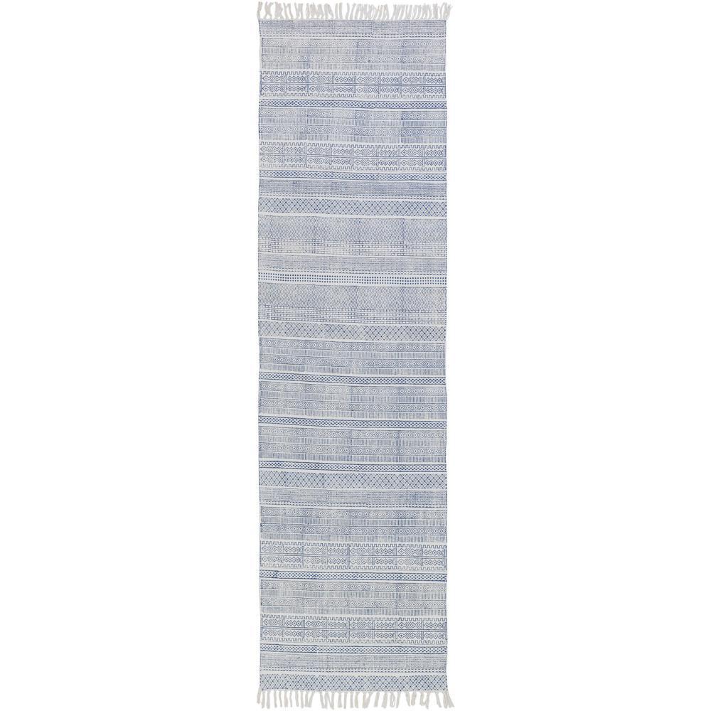 Yobai Dark Blue 2 ft. 6 in. x 8 ft. Indoor Runner