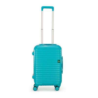 Groove 2 in. 21.7 in. Minty Blue Hardside Spinner Suitcase