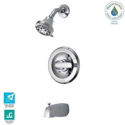 Classic Single-Handle 5-Spray Tub and Shower Faucet in Chrome (Valve Included)