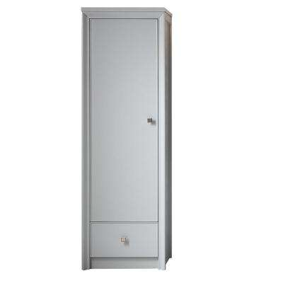 Parrish 22-1/2 in. W 1-Door and 1-Drawer Tall Side Unit in Dove Grey
