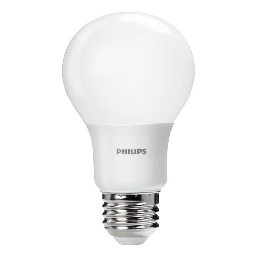 Philips 60-Watt Equivalent A19 Non-Dimmable Energy Saving LED Light Bulb Daylight (5000K)