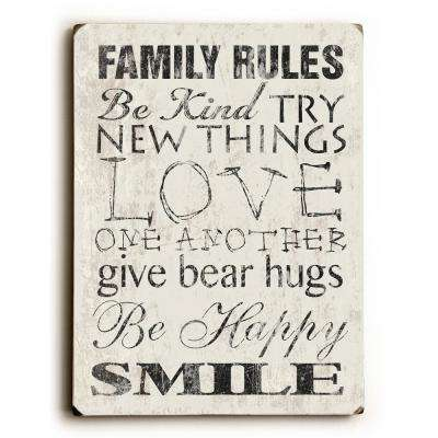 "9 in. x 12 in. ""Family Rules"" by Misty Diller ""Solid Wood"" Wall Art"