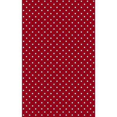 Petersen Red 17 in. x 78 in. Home Decor Self Adhesive Film (2-Pack)