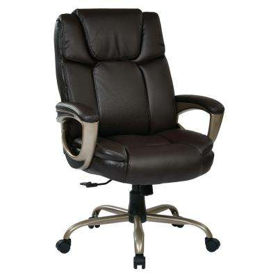 Espresso Eco Leather Big Man's Executive Office Chair