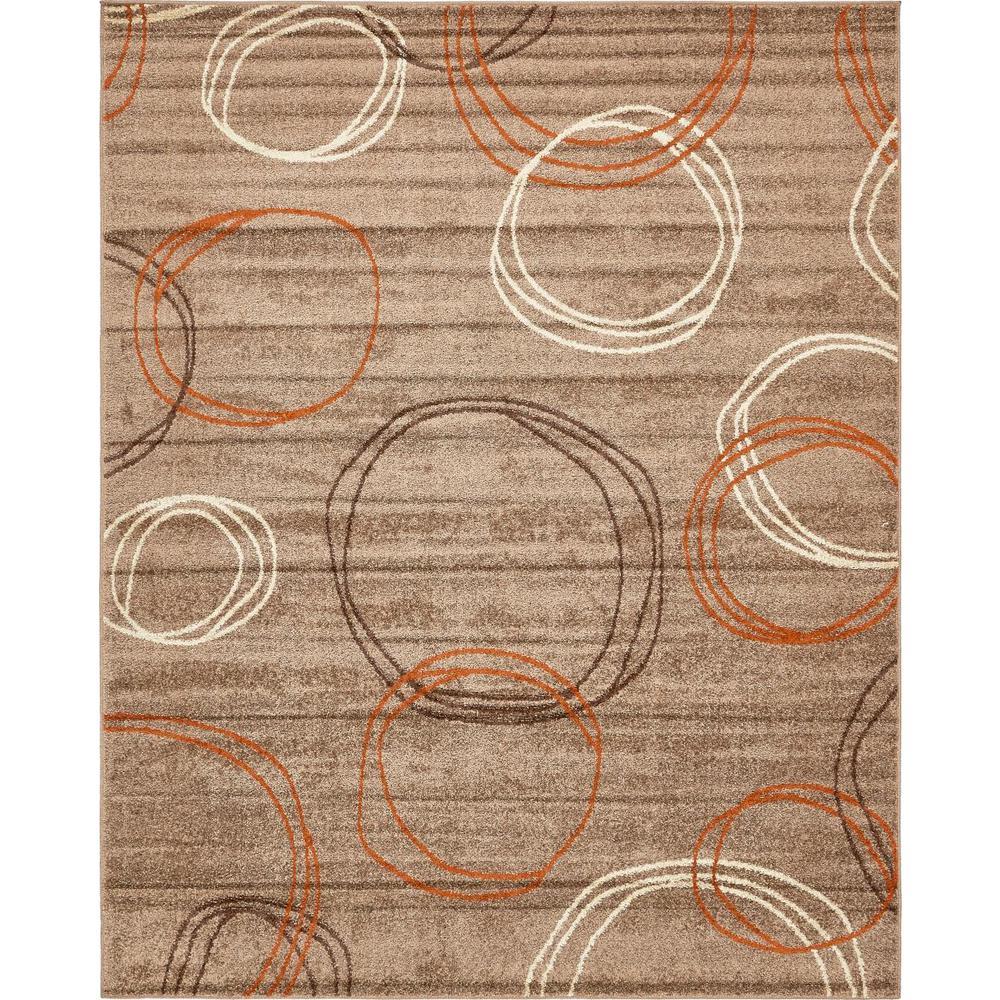 Autumn Cornucopia Light Brown 8' 0 x 10' 0 Area Rug