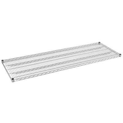 1.5 in. H x 72 in. W x 24 in. D Steel Wire Shelf in Chrome