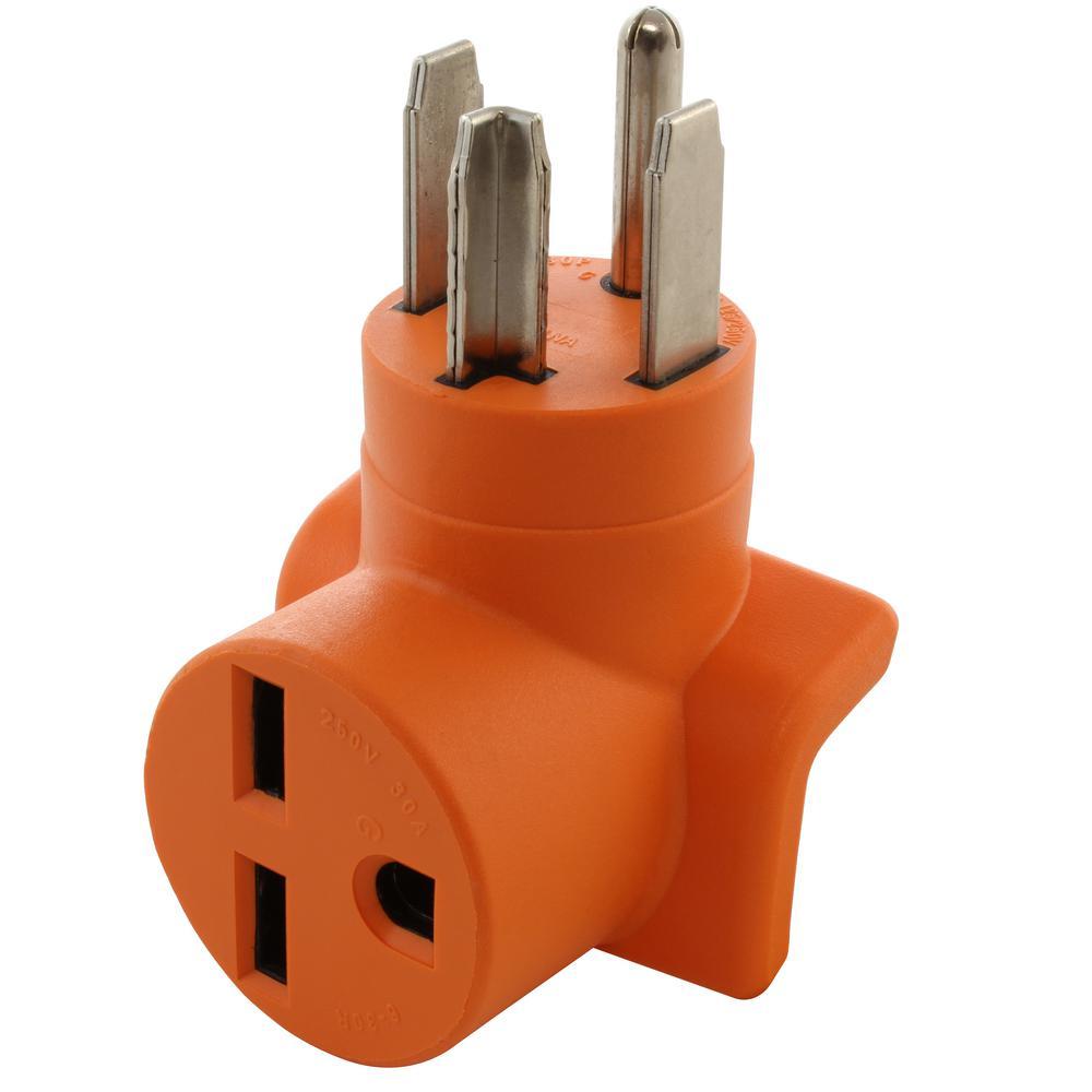 30 Amp 14-30 4-Prong Dryer Plug to 6-30R 30 Amp 250-Volt Commercial HVAC Female Adapter