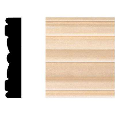 5/8 in. x 3 in. x 7 ft. Hardwood Flute Moulding