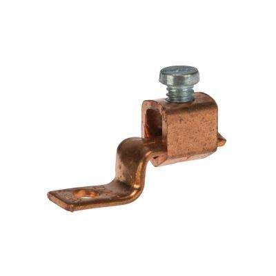 6-14 AWG Copper Solderless Lug, 3/16 in. Mounting Hole- 1 Count