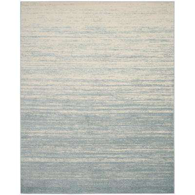 Adirondack Slate/Cream 9 ft. x 12 ft. Area Rug
