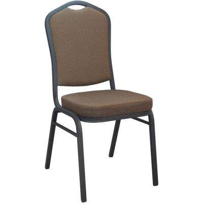 Brown Patterned Fabric Crown Back Banquet Chair (Set of 50)
