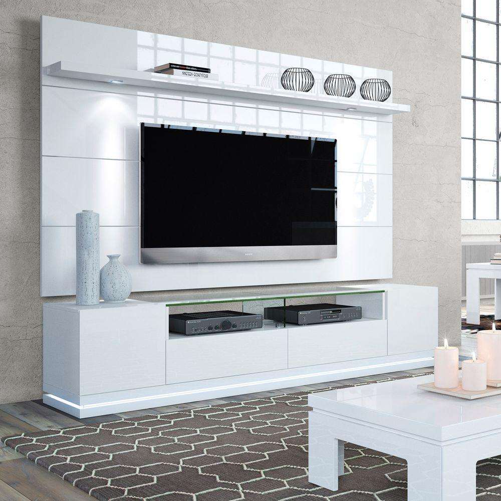 Manhattan Comfort Vanderbilt White Gloss Entertainment Center-2 ...